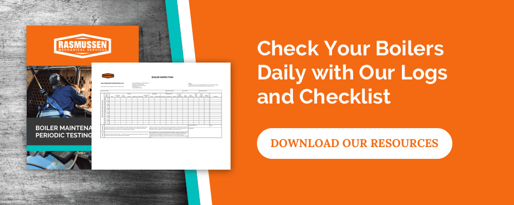 Check your boiler logs daily with our Logs and checklist