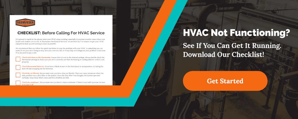 Downloadable HVAC Maintenance Checklist
