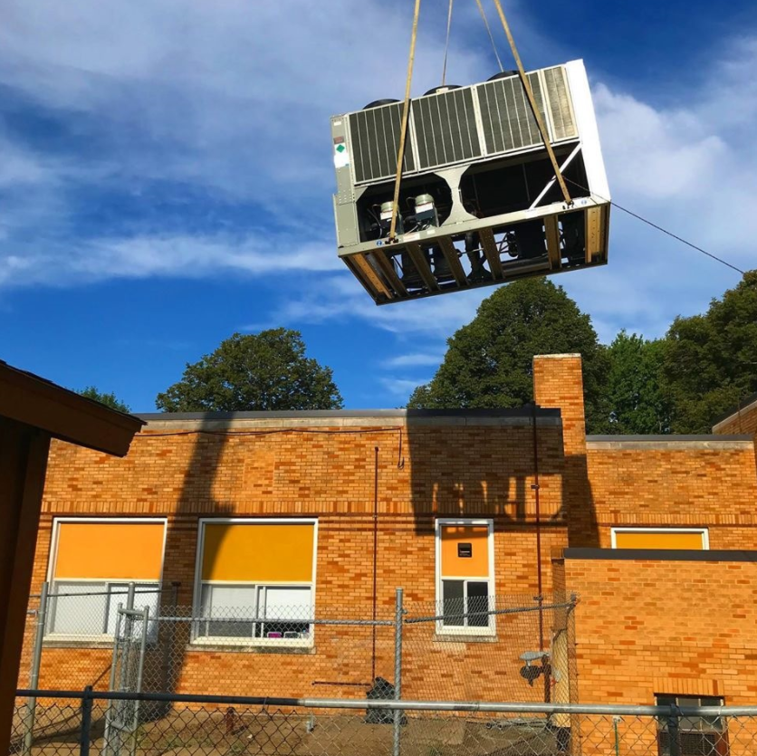 New HVAC System Being Installed At A School