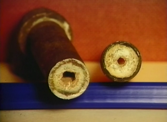 Picture of Pipes With Scale Build-up of calcium and magnesium