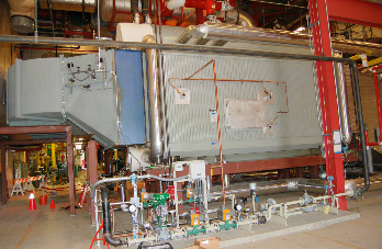 HRSG Watertube Package Boiler installes in a facility