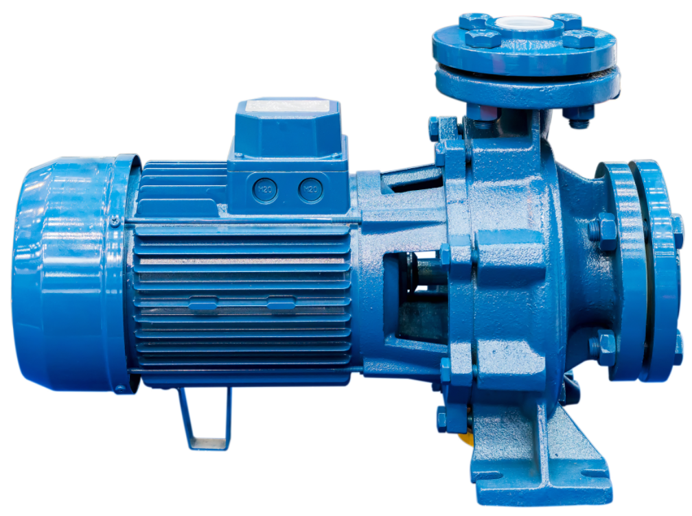 High definition picture of a centrifugal pump close up.
