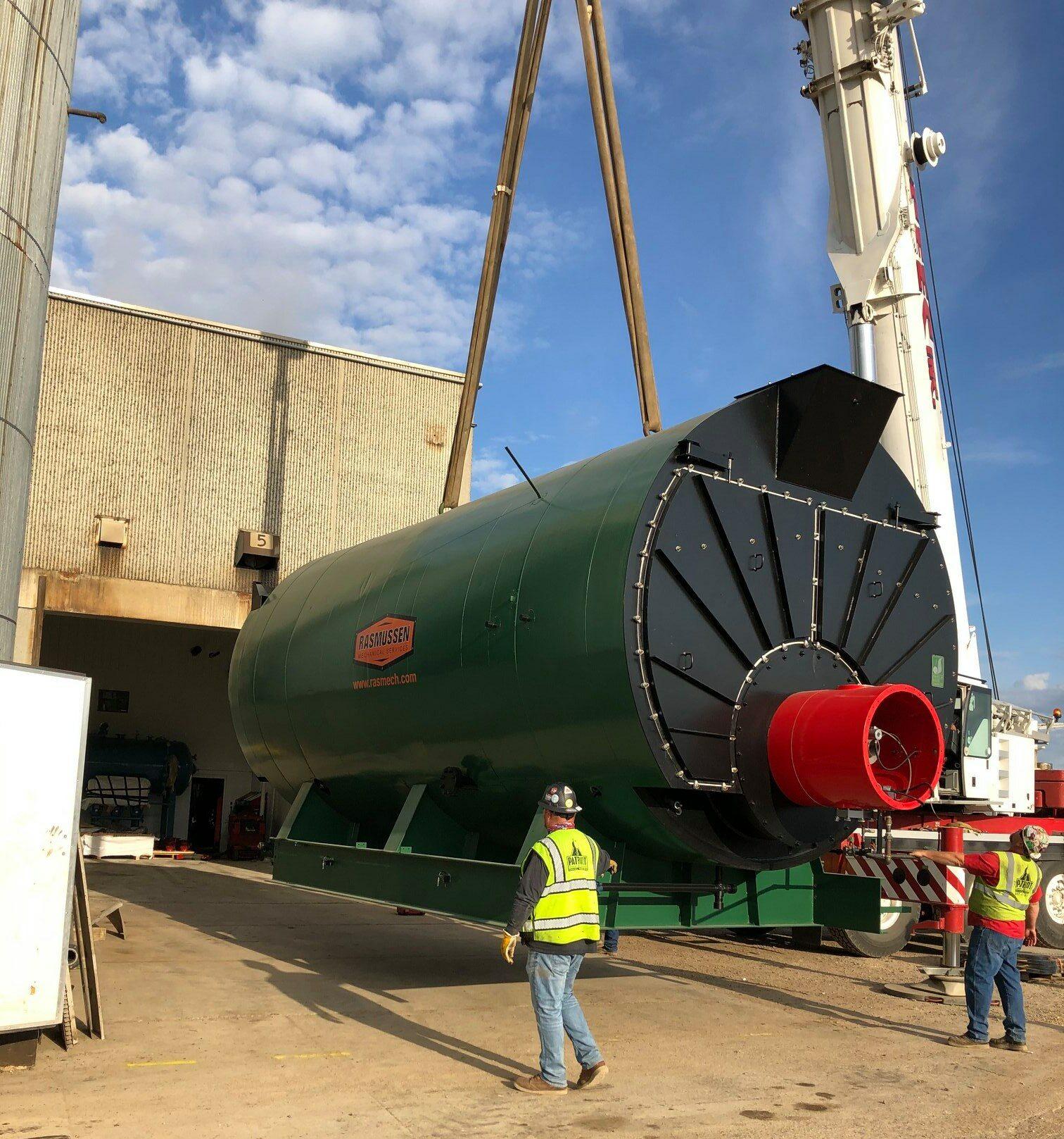 1500 HP Johnson Boiler Being installed in Minnesota