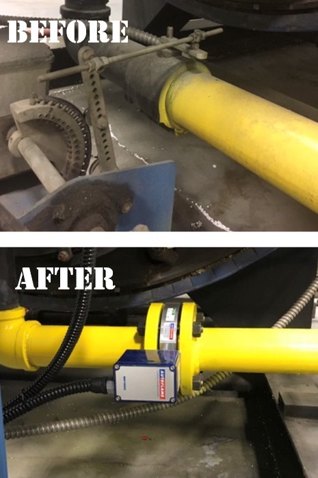 Before and after gas control valve replacement
