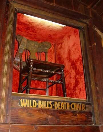 Wild Bills Death Chair inside the hickok hotel
