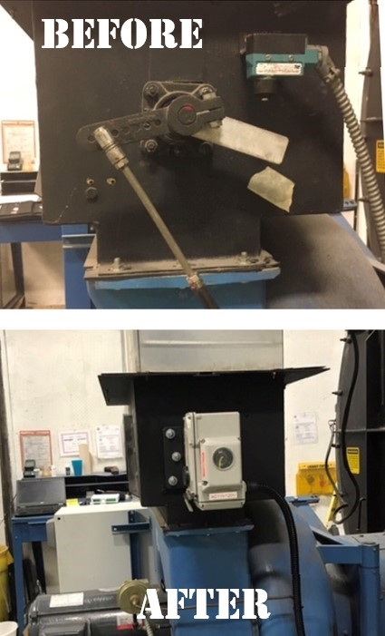 Before and After air damper control linkage upgrade
