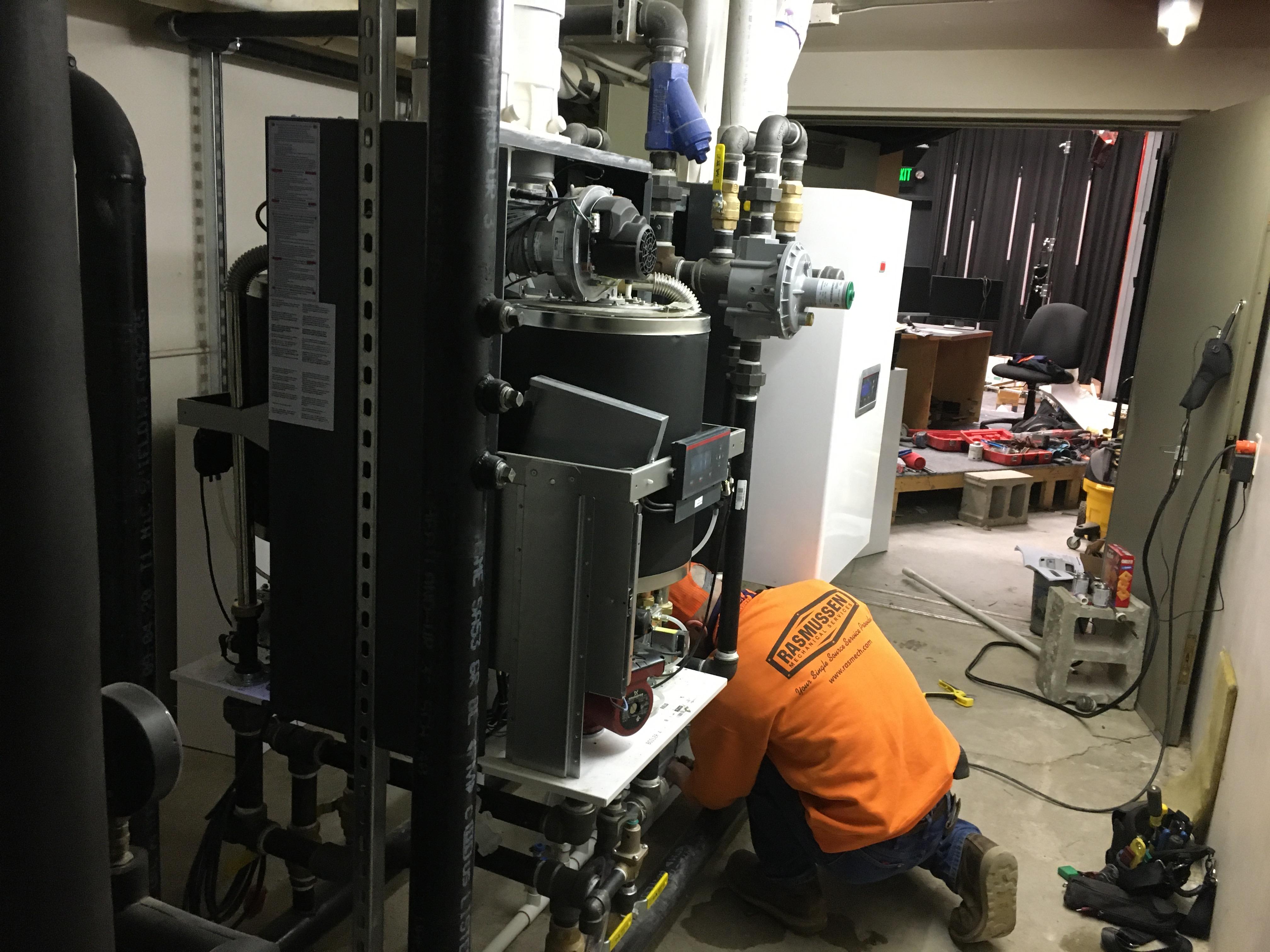 Boiler installs at Doane University