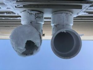 Clogged Piping from HVAC Furnace exhaust