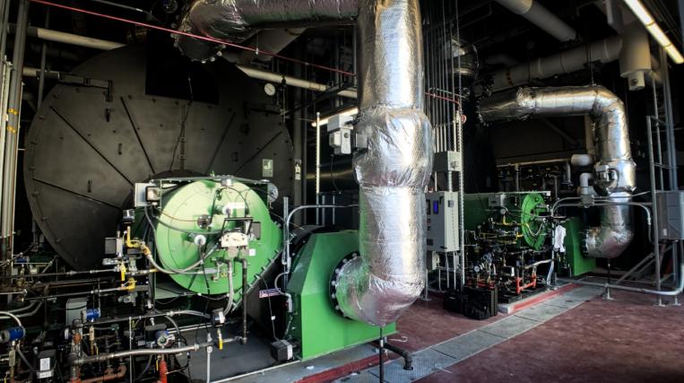 Direct fresh air boiler ducting