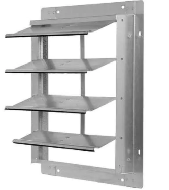 A finned metal commercial damper